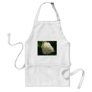 White Hydrangea Flower Cluster Adult Apron
