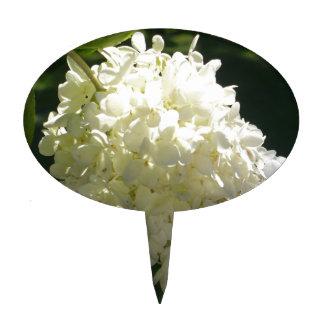 White Hydrangea Flower Cluster Cake Topper