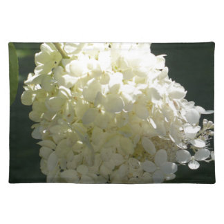 White Hydrangea Flower Cluster Place Mat