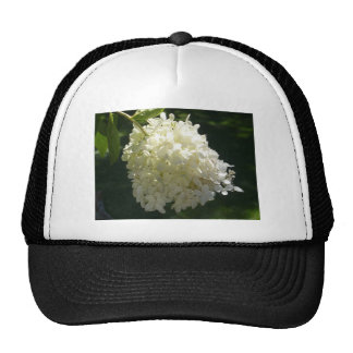 White Hydrangea Flower Cluster Trucker Hat