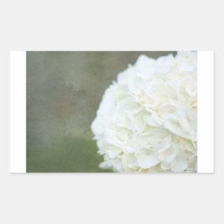 White Hydrangea Flower Floral Photograph Rectangular Sticker