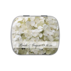 White Hydrangea Flower Wedding Favor Candy Tins at Zazzle