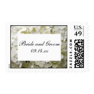 White Hydrangea Flower Wedding Postage