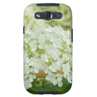 White hydrangea flowers galaxy s3 cover
