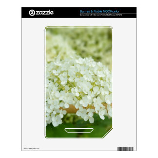 White hydrangea flowers decals for NOOK color