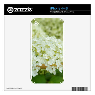White hydrangea flowers skin for the iPhone 4S