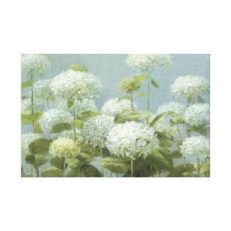 White Hydrangea Garden Canvas Print