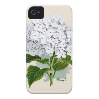 White Hydrangea iPhone 4 Case