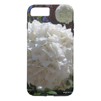 White hydrangea iPhone 7 plus case