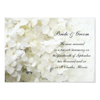 White Hydrangea Marriage Announcement