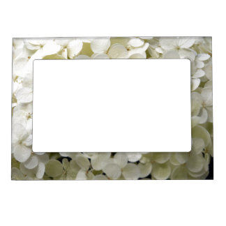 White Hydrangea Picture Frame Magnetic Picture Frame