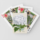 White Hydrangea Playing Cards