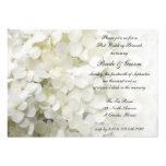 White Hydrangea Post Wedding Brunch Invitation