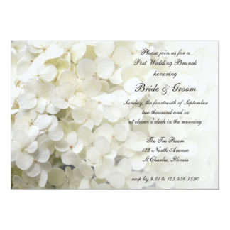 "White Hydrangea Post Wedding Brunch Invitation 5"" X 7"" Invitation Card"