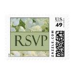 White hydrangea RSVP postage