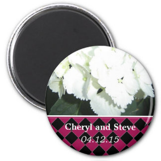 White Hydrangea Save the Date Magnet