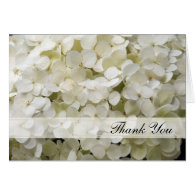 White Hydrangea Thank You Note Card