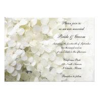 White Hydrangea Wedding Invitation