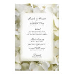 White Hydrangea Wedding Menu Stationery