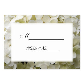 White Hydrangea Wedding Place Card Business Cards