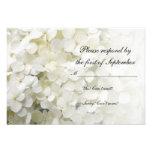 White Hydrangea Wedding RSVP Response Card Custom Announcement