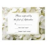 White Hydrangea Wedding RSVP Response Card Invitation