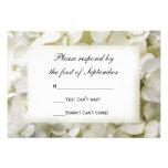 White Hydrangea Wedding RSVP Response Card Custom Invite