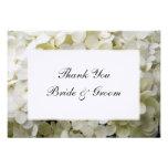 White Hydrangea Wedding Thank You Notes - Flat Custom Invitations