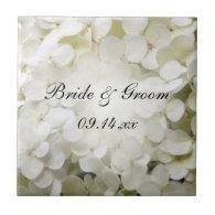 White Hydrangea Wedding Tile
