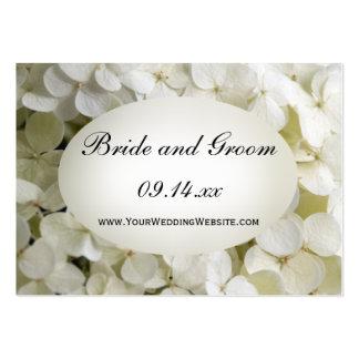 White Hydrangea Wedding Website Card Business Card