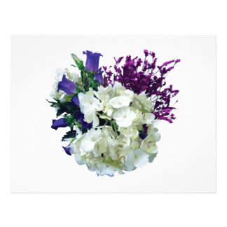 White Hydrangea With Canterbury Bells and Sage Flyer