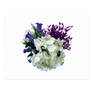 White Hydrangea With Canterbury Bells and Sage Post Cards