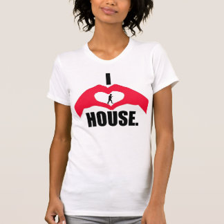 "White ""I <3 House."" Tank Top w/ Logo Women"