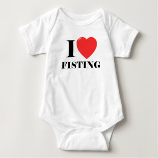 White I Love Fisting T-Shirts.png Infant Creeper