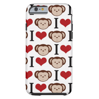 White I Love Monkey iPhone 6 case /