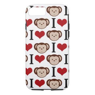 White I Love Monkey iPhone 7 case /