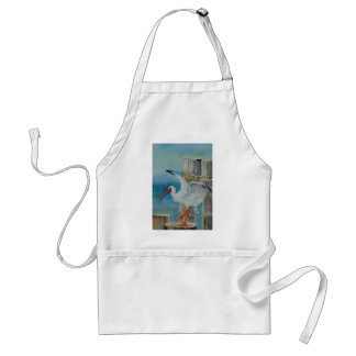 White Ibis by Peggy Allen Aprons
