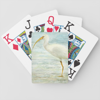 White Ibis on the Shore Card Deck