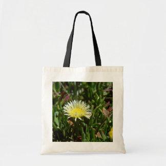 White Ice Plant Blossom flowers Budget Tote Bag
