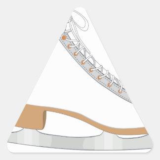 White ice skate triangle sticker