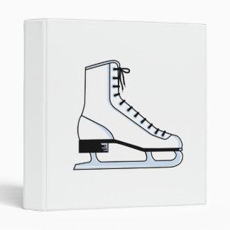 white ice skate vector graphic binder