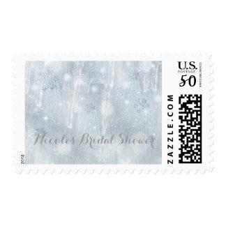 White Ice Snowflakes Winter Wonderland Invitation Postage