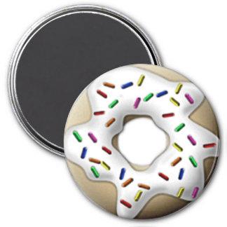 White Iced Doughnut Magnet