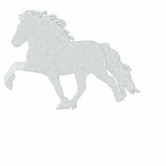 White Icelandic Horse ~ Embroidered  Sherpa Hoodie