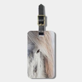White Icelandic Horse face, Iceland Luggage Tag