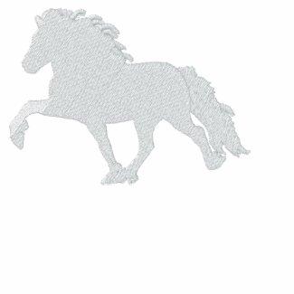 White Icelandic Horse ~ Long sleeve Shirt embroideredshirt