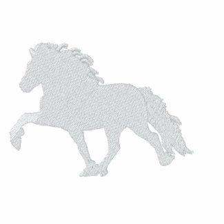 White Icelandic Horse ~ Polo Shirt embroideredshirt