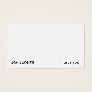 White iii business card