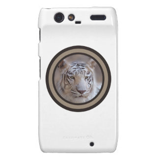 White Indian Bengal Tiger Droid RAZR Cover