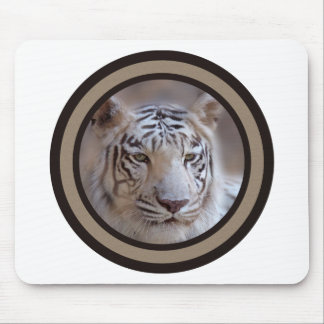 White Indian Bengal Tiger Mouse Pad